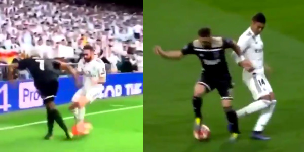 WATCH: David Neres and Dusan Tadic are taking the absolute piss at the Bernabeu