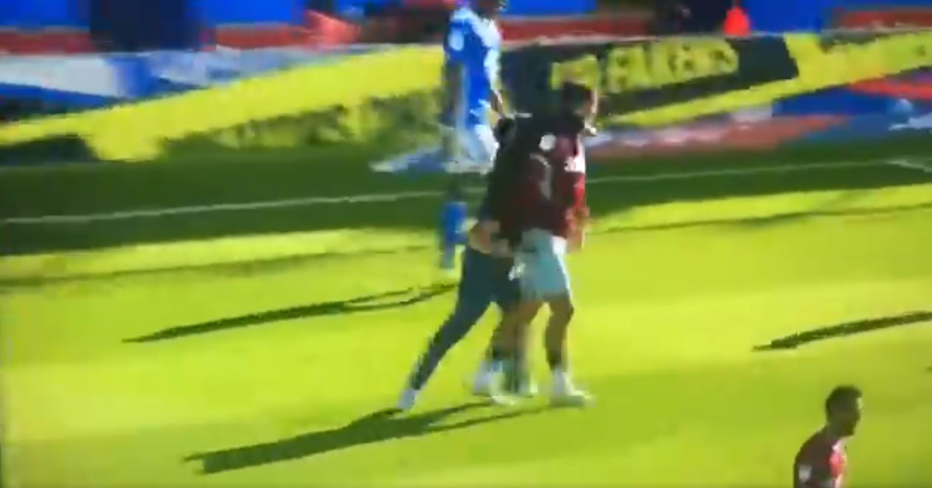 WATCH: Birmingham Fan Runs Onto The Pitch And Punches Jack Grealish In The Face. DISGUSTING!