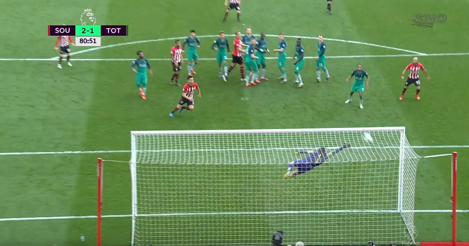 WATCH: Another Outstanding Top Bins Free-Kick From Ward-Prowse. He's Unstoppable!