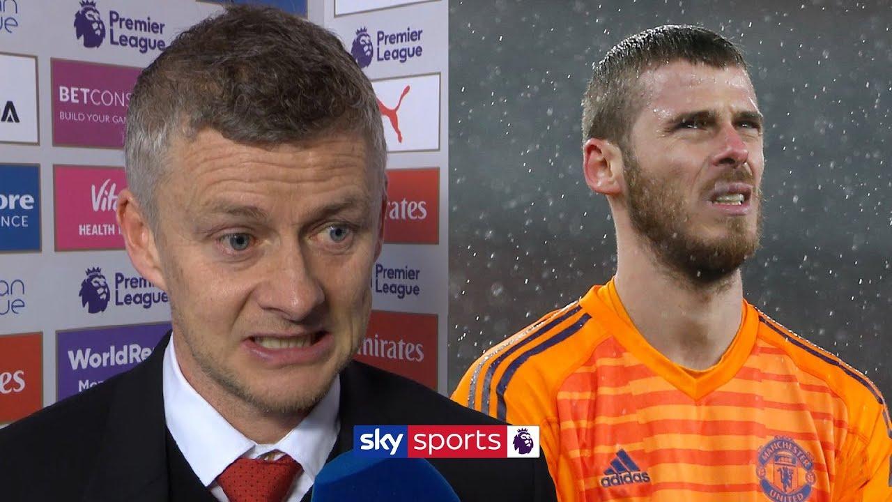 WATCH: Ole Gunnar Solskjaer reacts to David De Gea's mistake against Arsenal