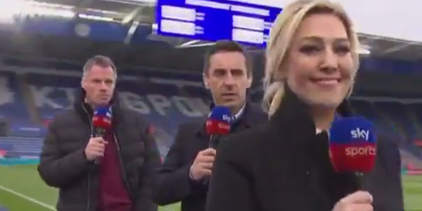 WATCH: Kelly Cates gets her revenge on Carragher & Neville by walking away on them