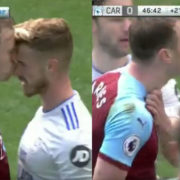 WATCH: Ashley Barnes Gets Yellow Card For Kissing Bennett On The Nose