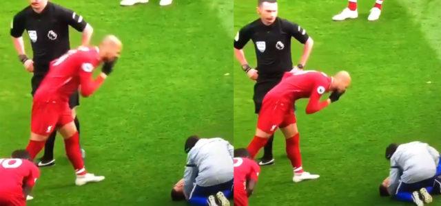 WATCH: Did Fabinho Just Blow His Nose Onto Hazard On The Ground?