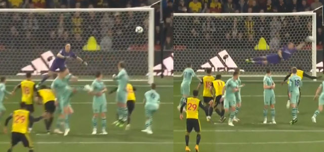WATCH: Leno With A Stunning Save For Capoue's Free-Kick