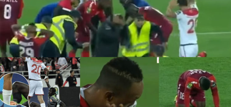 WATCH: Teammates In Tears After Seeing Their Senegalese Goalkeeper Suffer Horrific Double Leg Break