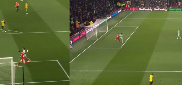 WATCH: Aubameyang Scores No Look Goal Without Even Shooting
