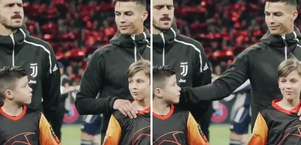 This is arguably the best clip you'll see today. The kids face says it all when Cristiano looks back…😍