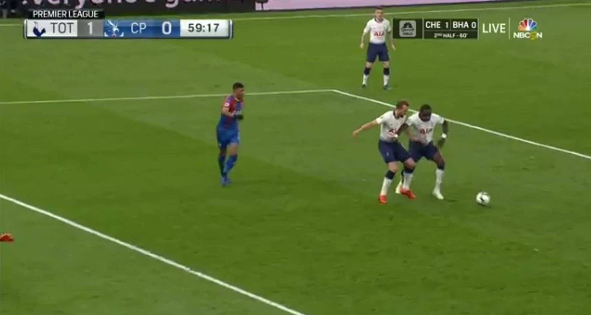 WATCH: Sissoko Tackles Harry Kane In The Palace Box And Stops A Certain Goal, Typical Moussa!