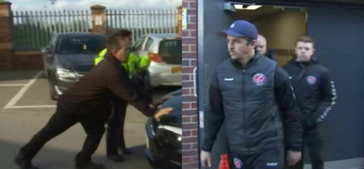 VIDEO: Joey Barton Prevented from Leaving Oakwell Stadium After Alleged Assault