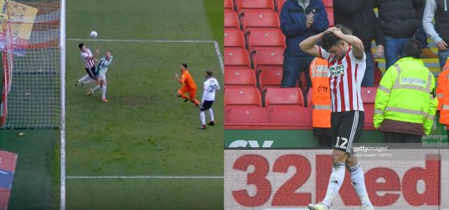 WATCH: Sheffield United defender John Egan sees red for super save