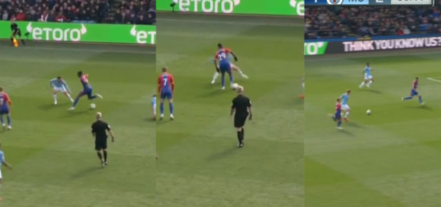 WATCH: Wan-Bissaka Tries To Nutmeg B.Silva, Fails And City Go On To Score Offside Goal