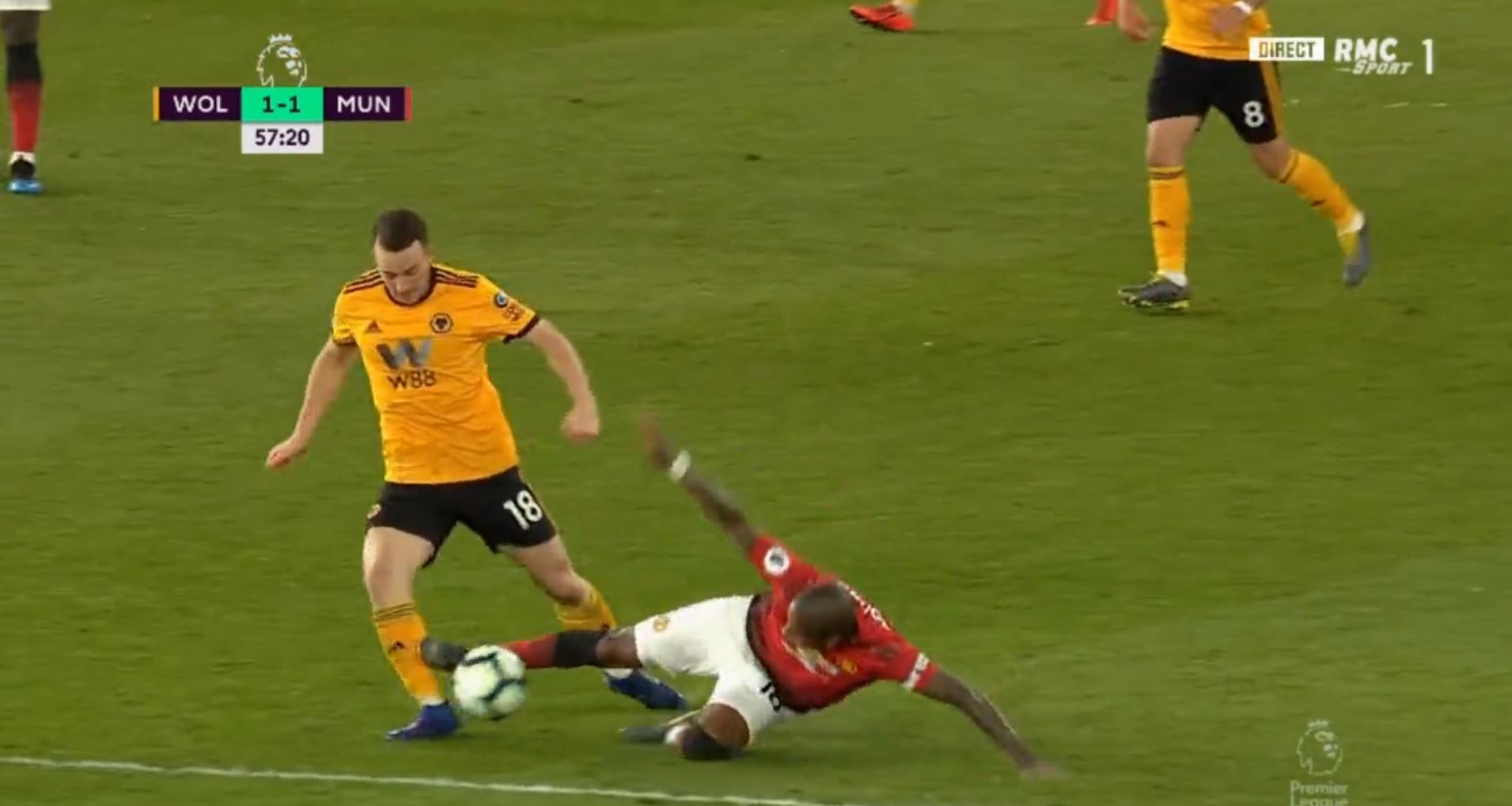 WATCH Ashley Young SENT OFF Against Wolves!