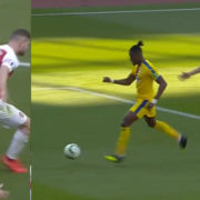 WATCH: Zaha Goal Proves Mustafi Is A Complete Fraud