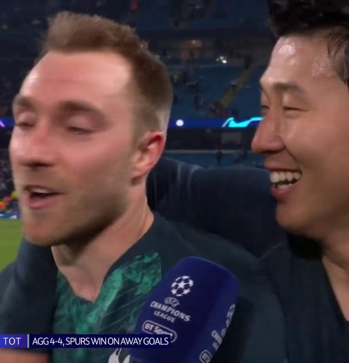 Christian Eriksen and Heung-Min Son react to Man City vs Spurs   What a game!