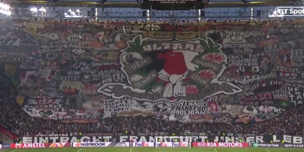 WATCH: Eintracht Frankfurt put on spectacular display of support during Europa League