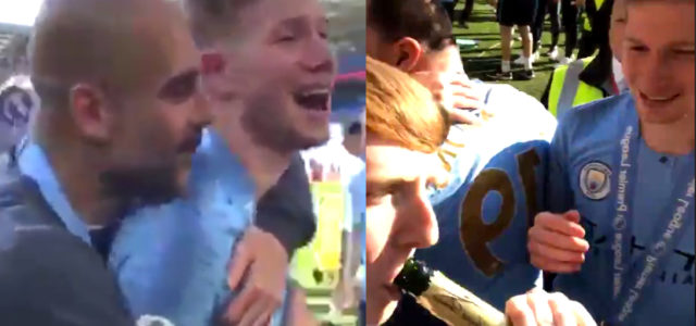 WATCH: Kevin de Bruyne produces two brilliant moments after winning the Premier Legaue