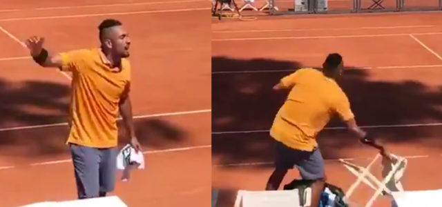 WATCH: Nick Kyrgios is in huge trouble after his rampage at the Rome Masters