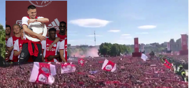 WATCH: Over 100,000 Ajax fans sing 'Tadic on fire' and it's quite unbelievable