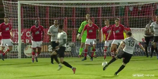 WATCH: Danny Hollands hits arguably the cleanest strike in football league history