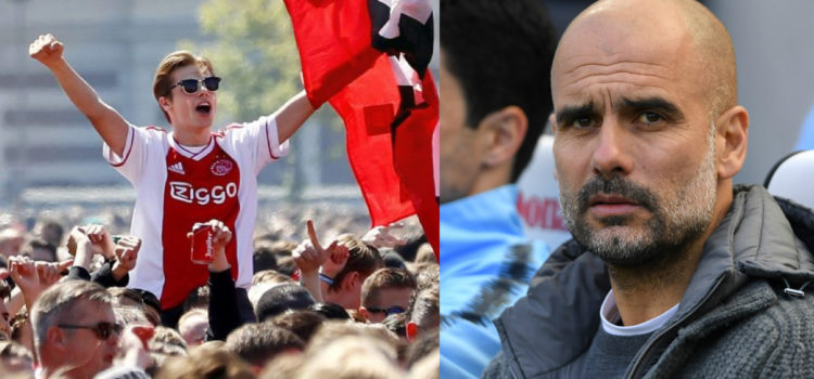 WATCH: Video comparing City v Ajax trophy celebrations is super embarrassing for City