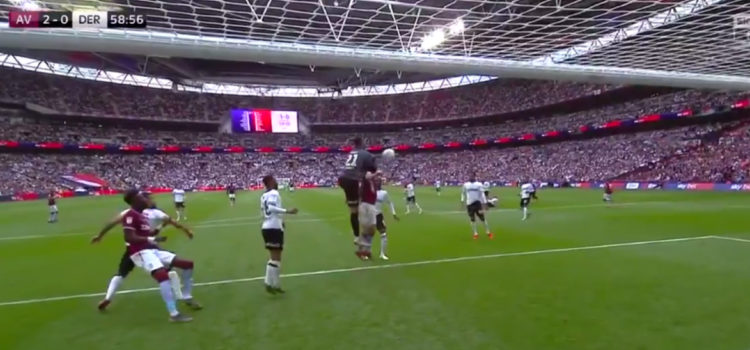 WATCH: Kelle Roos makes complete f**k up and costs Derby goal in play-off final
