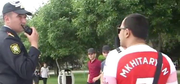 WATCH: Arsenal fan stopped in Baku for wearing Henrikh Mkhitaryan shirt