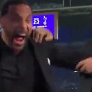 WATCH: Rio Ferdinand nearly throws Glenn Hoddle out of studio during celebration