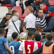 WATCH: Dirk Kuyt forced to break up fan fight during Ajax v Feyenoord U19 title decider