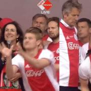 WATCH: De Ligt Catches Beer Thrown At Mayor Of Asmterdam