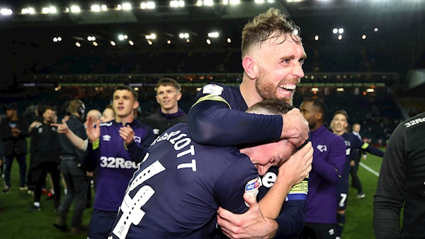Jack Marriott brace sends Derby into Championship play-off final