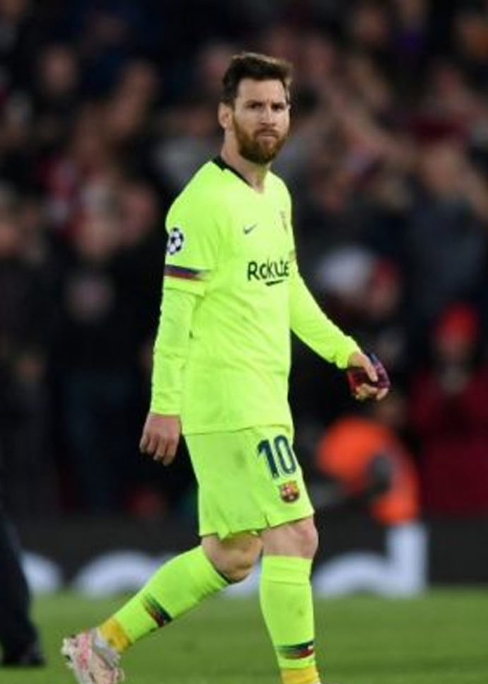 Messi Apologises For Champions League Exit