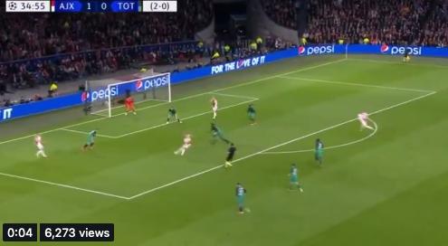 Hakim Ziyech just scored this banger of a goal. Unbelievable technique. Beautiful.