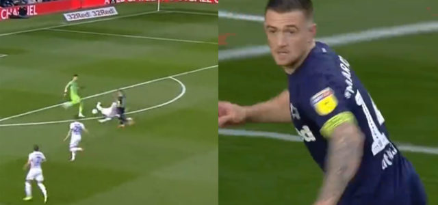 WATCH: Derby Score As Leeds Player Slide Tackles His Own Keeper