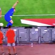 WATCH: Nicolo Barella Nearly Takes the head off Greek ball boy 🤣🤣🤣