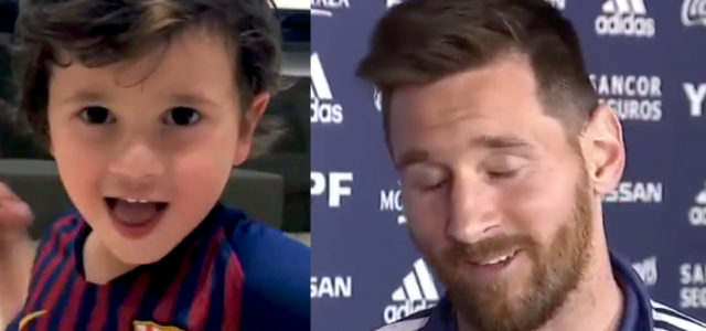WATCH: Lionel Messi tells brilliant story of how his 3 year old son trolls him