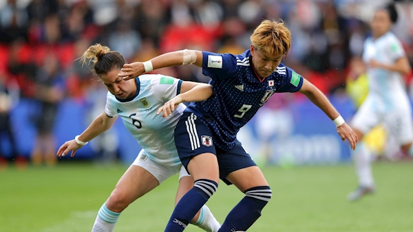 Argentina secure historic first point against Japan in Women's World Cup