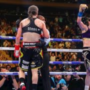 Katie Taylor becomes undisputed lightweight champion after all-action classic against Delfine Persoon