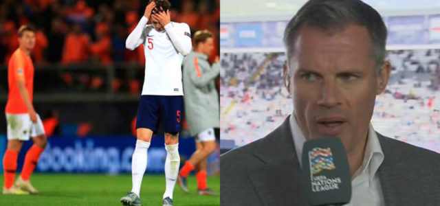 WATCH: Jamie Carragher Was Not Impressed With John Stones Last night!