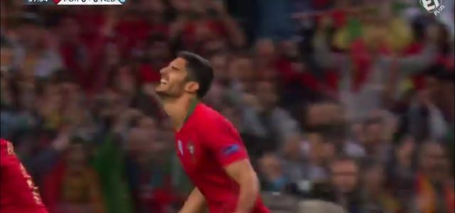🇵🇹🚀 Goncalo Guedes gives Portugal the lead in the #NationsLeague final!