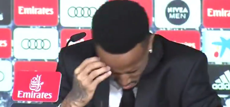 WATCH: Éder Militão press conference cancelled after almost fainting on stage