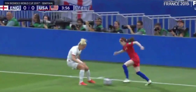 WATCH: Rose Lavelle schools Millie Bright with outrageous nutmeg