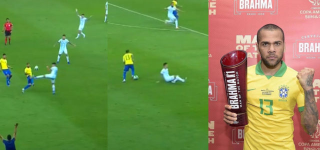 WATCH: Brazil's First Goal Last Night Was So Filthy It Should Be R-Rated. Dani Alves Take A Bow!