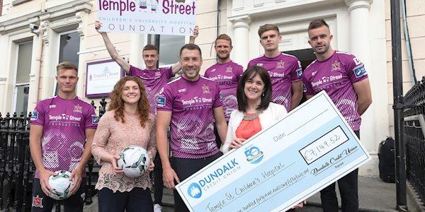 Dundalk's third kit initiative raises €7k for Temple Street Hospital