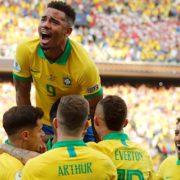Gabriel Jesus scores then sees red as Brazil win Copa America