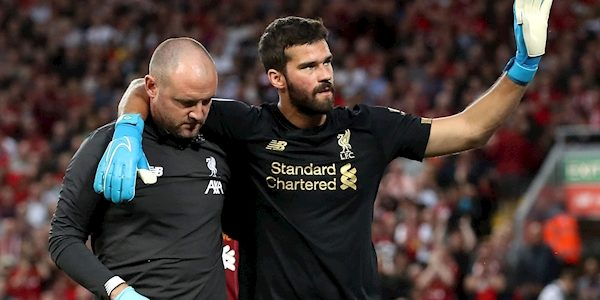 Liverpool keeper Alisson set to miss 'the next few weeks', Jurgen Klopp confirms