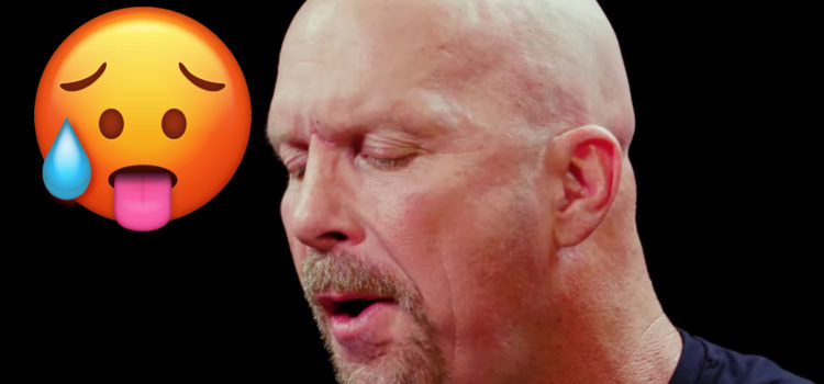 WATCH: Stone Cold gets his ass whooped by insanely hot wings
