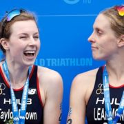 Triathletes disqualified from Olympic qualifier for crossing finish line hand-in-hand