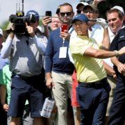 Rory McIlroy four shots off leader Hideki Matsuyama who breaks Medinah course record