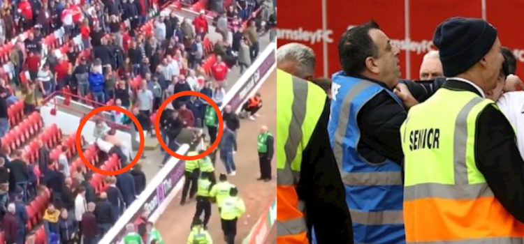 VIDEO: Footage emerges of crowd trouble during Barnsley and Leeds clash – clubs investigating