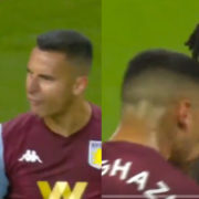 WATCH: Anwar El Ghazi and Tyrone Mings pulled apart after going head to head